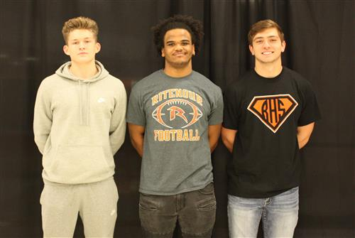 All-Conference First Team football athletes