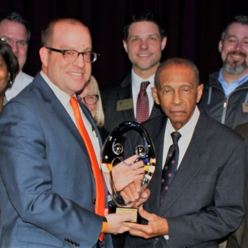 Ritenour Receives Partnership Award from St. Louis Community College
